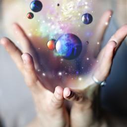 freetoedit space manos espacio