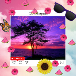 summer sunset freetoedit