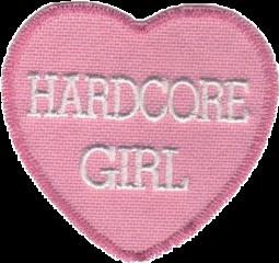 hardcore pink patch heart aesthetic freetoedit