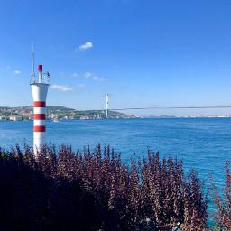 view lighthouse river bridge window freetoedit