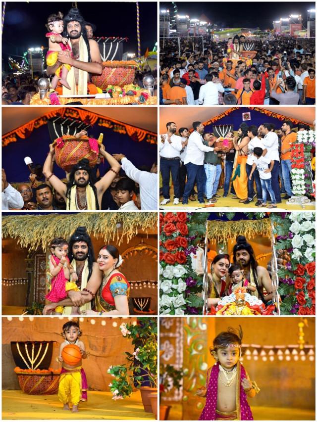 #सारहि_युथ_क्लब ओफ #अमरेली द्वारा आयोजित #जन्माष्टमी #लोकमेला - २०१९ में #कृष्ण_जन्म_उत्सव मे मेरे बेटे #अद्वैत को बाल श्री #कृष्ण बंने का अवसर मिला। २४ अगस्त २०१९। #Amreli #Janmashtami #Janmashtami2019 #Krishna #ShriKrishna #Shri_Krishna #Advait #Manish #Sanghani #ManishSanghani #Manish_Sanghani #AdvaitSanghani #Advait_Sanghani