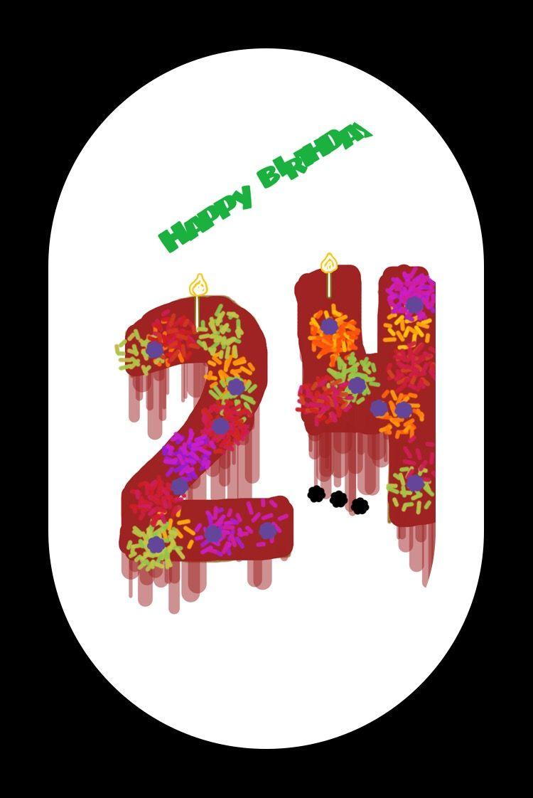 #numbercake#number twenty four#happy birthday