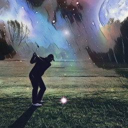 freetoedit golf golfing surrealistic dream