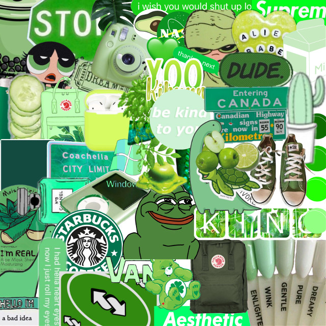 sorry for the extra white s p a c e. this one was kinda hard since nobody really makes green stickers but i made it somehow🍃 #interesting #art #collages #collageart #aesthetic #aesthetictumblr #aestheticedit #aesthetics #green #greenaesthetic #flavours #beautiful #greenisunderrated #yookihyun #bts #wannaone #txt #twice #japan #wedding  #freetoedit