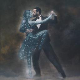 interesting surreal surrealism dance dancing love loving story sad brokenheart beautiful couple soul ethereal clouds stars cosmos universe space freetoedit
