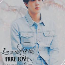 kimseokjin jin loveyourselfanswer fakelove bts freetoedit