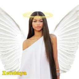 zendaya edit france angel white