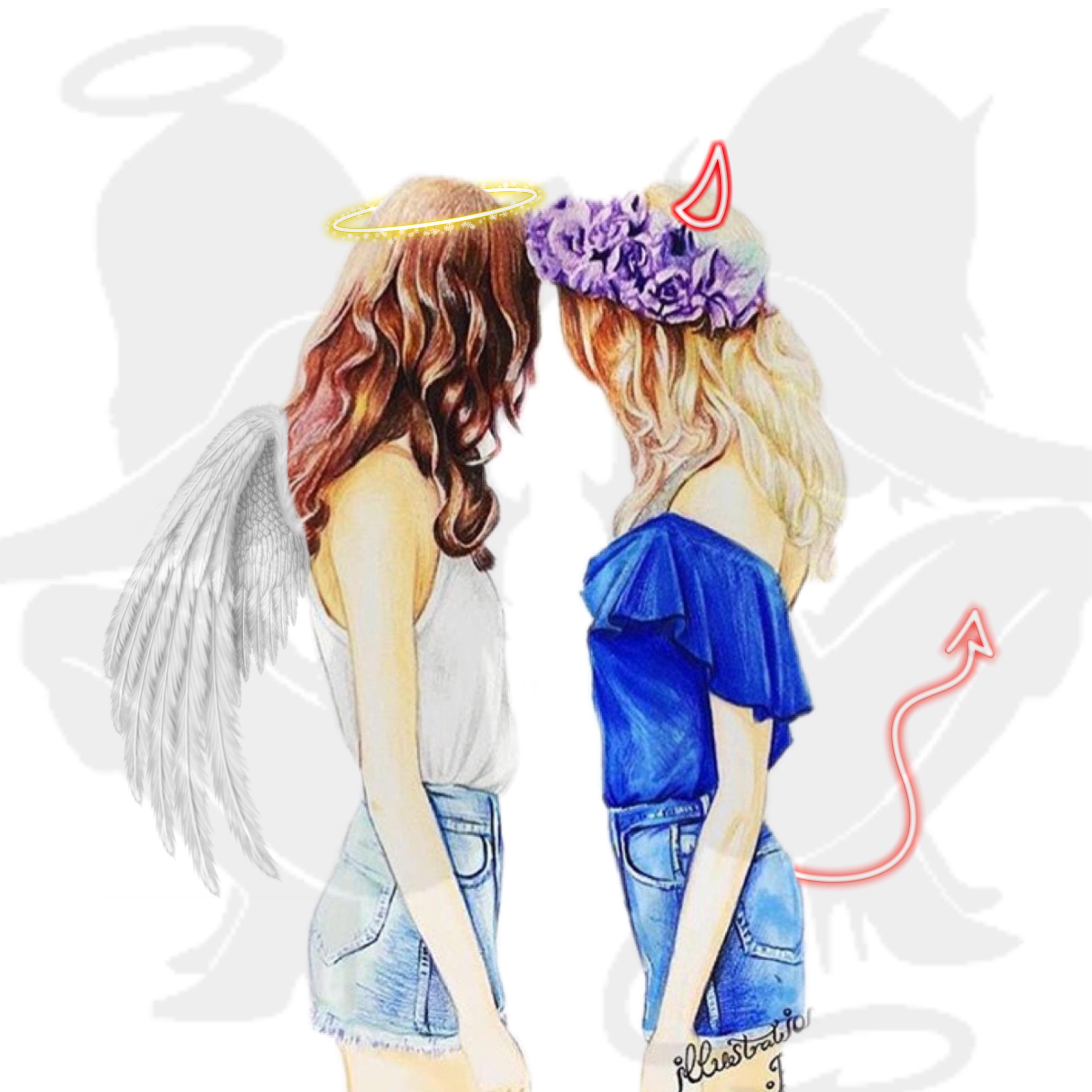 Engel und teufel in einem