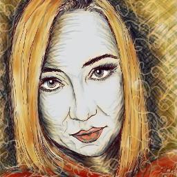 drawing girl face beautifull