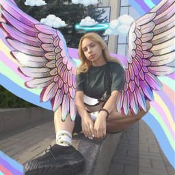 freetoedit angel girl happy