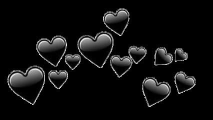 сердечки черные freetoedit