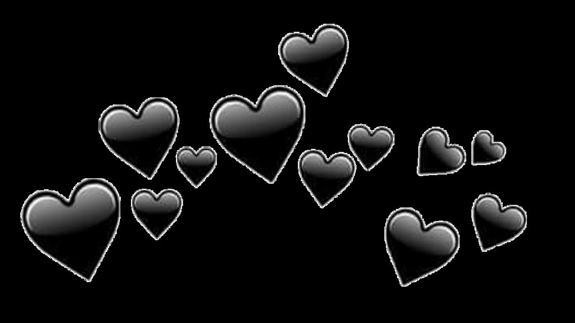 #сердечки#черные