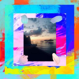 artsy sunset colorfulbackground colorfulsunset freetoedit