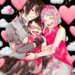 freetoedit sasusakusara family sasusaku sakura