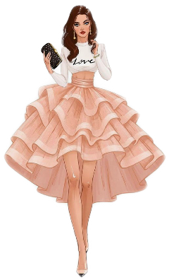 fashion puffyskirt cutegirl star model freetoedit