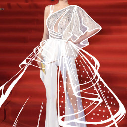 freetoedit outline outfit dress girl