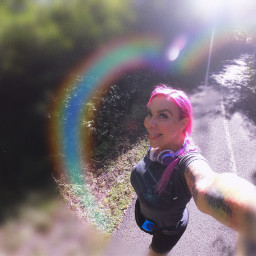 wideangle path welcomeseptember rainbow tongueout freetoedit