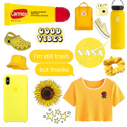 freetoedit white sketch aesthetic yellow scrunchies
