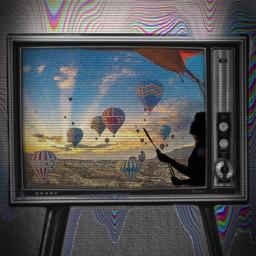 freetoedit tv vintage balloons hotairballoons