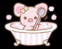 pig animal cute bath bathroom freetoedit
