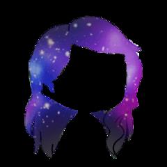 freetoedit gacha galaxy hair adorable