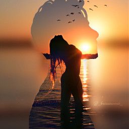 freetoedit girl silouette water madewithpicsart
