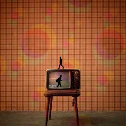 freetoedit tv walk glitch madewithpicsart