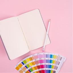 love palette notebook pink freetoedit
