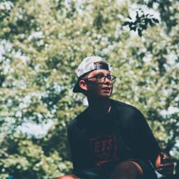 portrait glasses hat leaves summer freetoedit