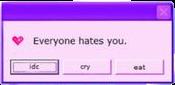 error eveyonehatesyou pink purple reminder freetoedit