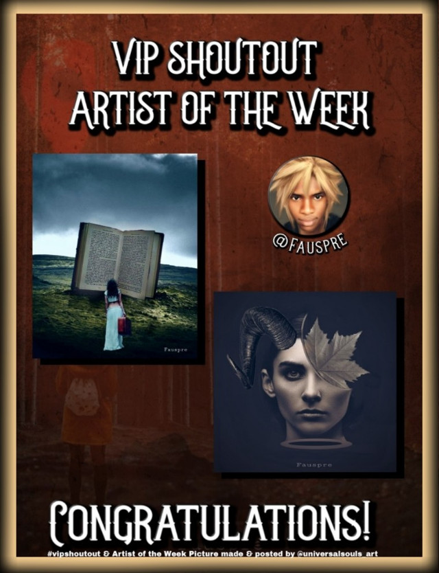 Congratulations to the Picsart gallery of @fauspre this week's Artist of the Week and current #vipshoutout 👏💥 The picture URLs  〰️ horned woman  https://picsart.com/i/296667387081201  〰️ woman in field  https://picsart.com/i/298503003207201  #nofeature #freetoedit