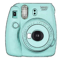 instax camera vsco aestetic blue freetoedit