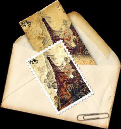 stamp paris envelope eiffeltower eiffel freetoedit scpostagestamps