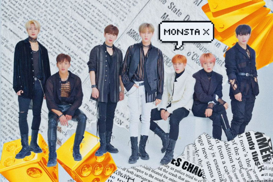 The winning images from our #iHeartMonstaX Challenge are 🔥 Congrats to @bysyd for winning 1st place 🏆 #MonstaX #freetoedit