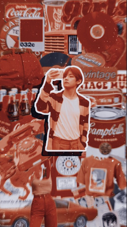 Wallpapet made by me  ^^^^^  #bts #v #taehyung #btswallpaper #lockscreen #wallpaper #kpop #kpopwallpaper #kpoplocksrceen #taehyungwallpaper #vintage #red