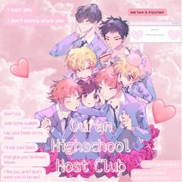 freetoedit ouranhighschoolhostclub pinkclouds pinkaesthetic pinktext