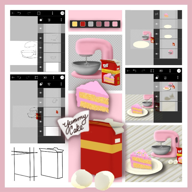 For those of you who want to view and vote for my finished cake drawing this is the url.  😊🤞 Thank you!  Challenge URL   https://picsart.com/i/305439480128201?challenge_id=5d650956978152446f6256e2  #drawingsteps #collage #food #cake #nofeature #freetoedit