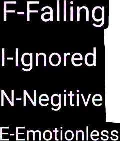 falling ignored negative emotionless freetoedit