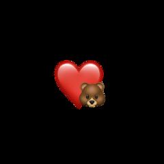 freetoedit heart emoji teddybear