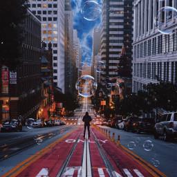 unsplash freetoedit surreal urban bubbles