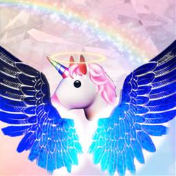 wigs halo unicorn freetoedit