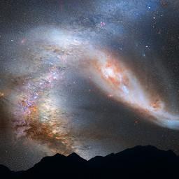galaxy star stars background backgrounds freetoedit