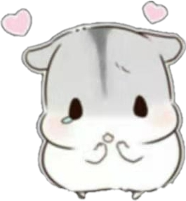 #cute #hamster #cartoon #hearts #adorable
