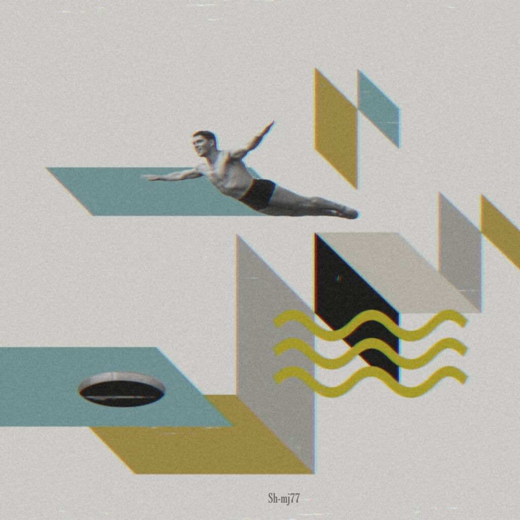 #freetoedit#diving#geometric#background##hole#be_creative#collage#aesthetic