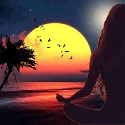 freetoedit meditation sonnenuntergang strand meer