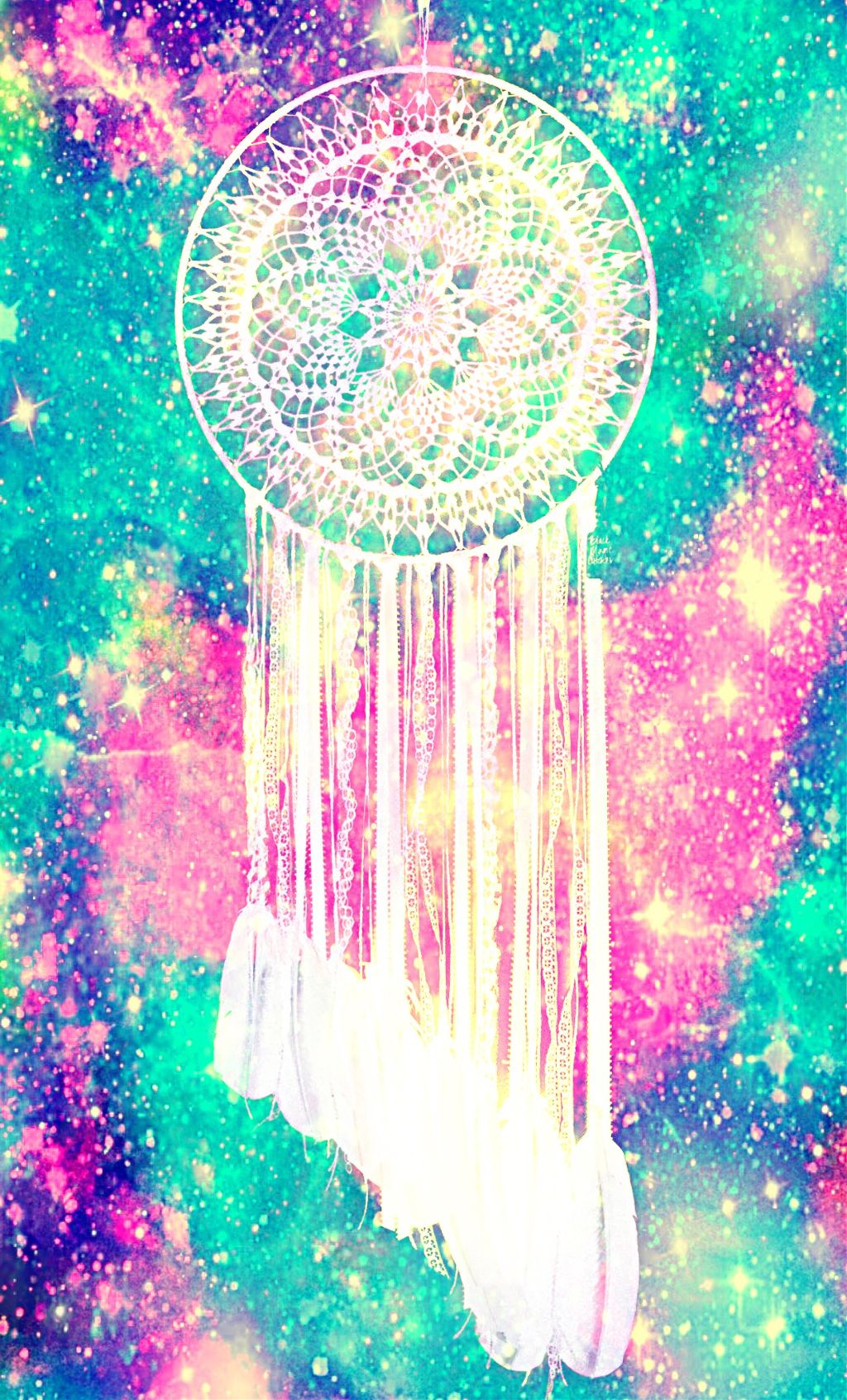 #freetoedit @mpink88 #glitter #sparkle #galaxy #dreamcatcher #boho #shimmer #colorful #bling #hipster #glow #remixit #background