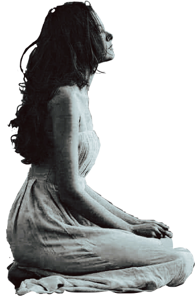 #freetoedit #woman #sitting #meditating #thinking #kellydawn