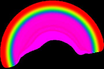 rainbow aesthetic gothic hearts transparent freetoedit