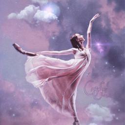 freetoedit doubleexposure ballerina myedit