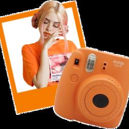 scorange orange fujifilm polaroid stickers